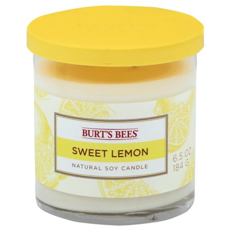 Burts Bees 119404 6.5 oz Sweet Lemon Soy 2-Wick Jar Candle, Pack of