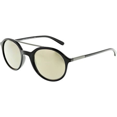 Giorgio Armani Mirrored AR8077-50175A-50 Black Round Sunglasses ()