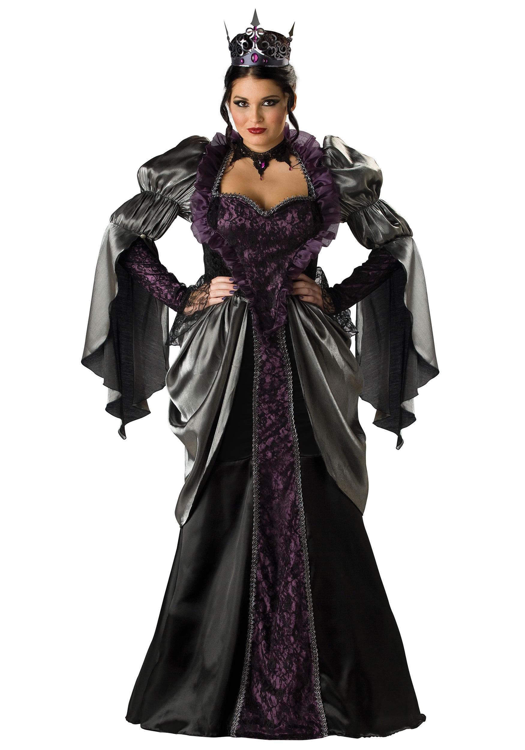Ladies Wicked Queen Costume Book Week Halloween Fancy Dress Outfit