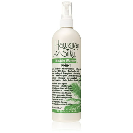 Hawaiian Silky 14-in-1 Miracle Worker Leave-In Conditioner Spray, 16 fl oz Detangling Light Conditioning Mist