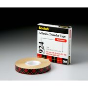 Scotch® ATG Adhesive Transfer Tape 924 Clear, 0.75 in x 36 yd 2.0 mil, 12 per