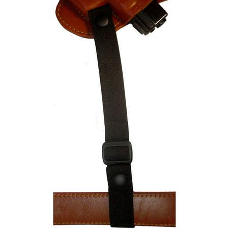 Lined Shoulder Holster - Gould and Goodrich Gold Line Shoulder Holster Tie Down, #B864, Black