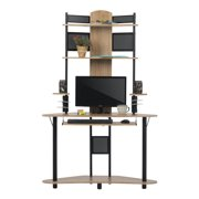Calico Designs Corner Computer Desk with Tower, Ashwood Finish