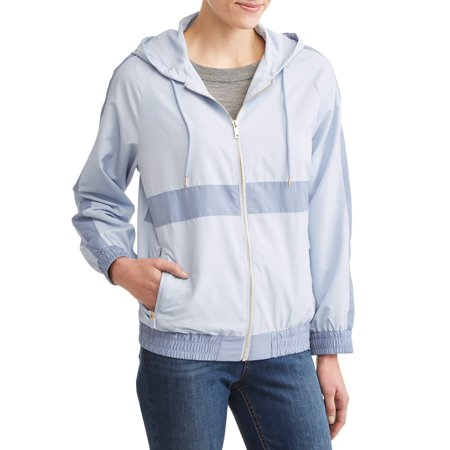 Women's Windbreaker Jacket with Gold Zipper Detail](Ringleader Jacket Women)
