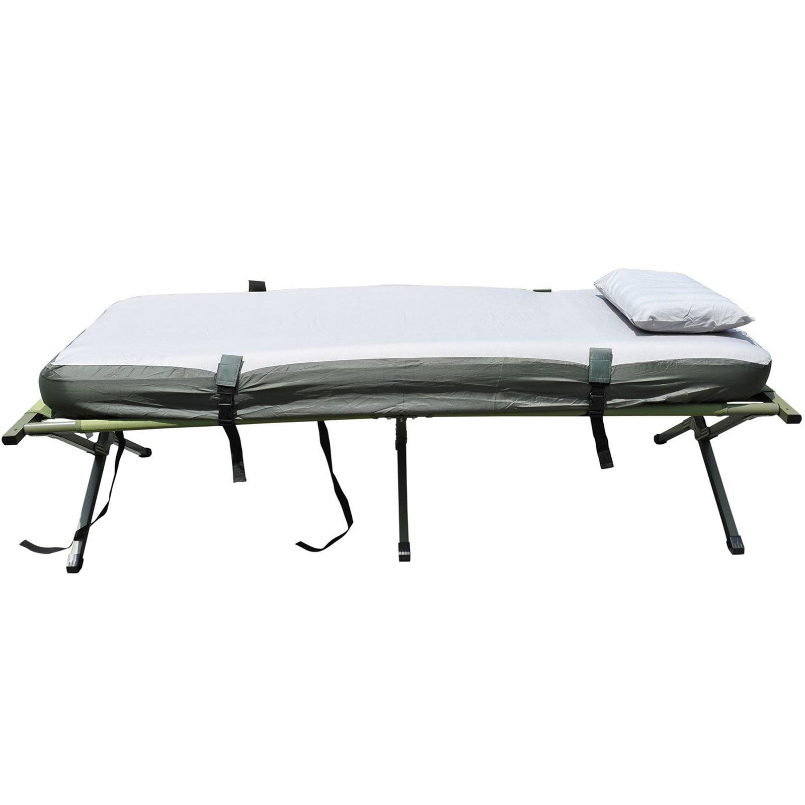 Outsunny Air Mattress Sleeping Bag Combo Pop Up Tent Cot Walmart Com