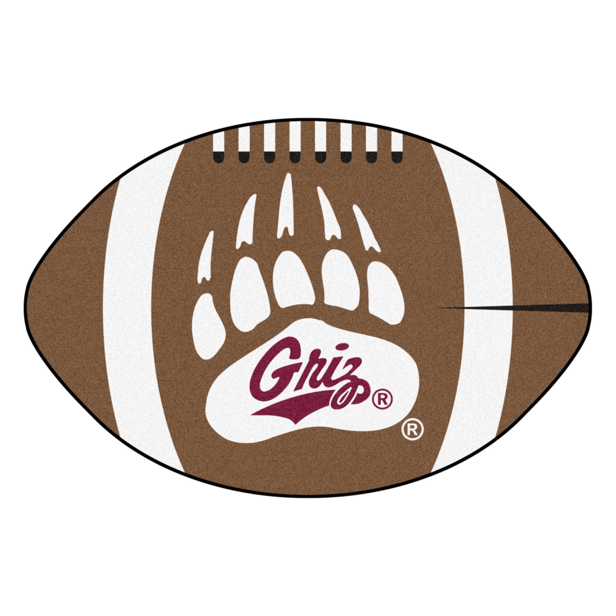"""Montana Football Rug 20.5""""x32.5"""""""