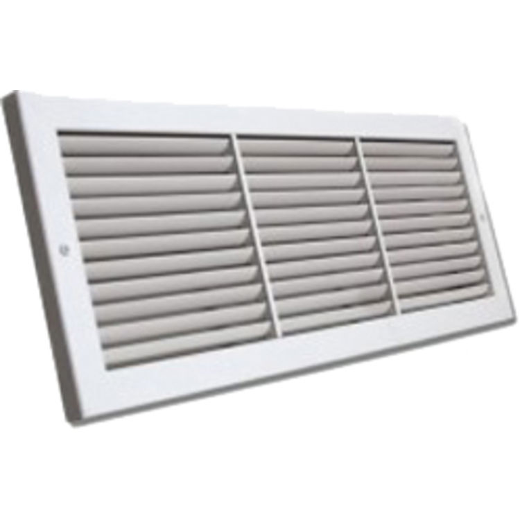 32x10 Soft White Deluxe Baseboard Return Air Grille (Alum...