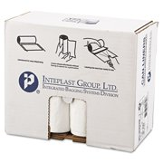 Inteplast Group Low-Density 30 Gallon White Can Liners, 25 count, (Pack of 8)