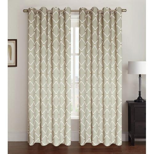 Kashi Home Celine Geometric Room Darkening Grommet Single Curtain Panel