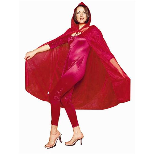 RG Costumes 75023-R 45-Inch Sheer Cape - Red