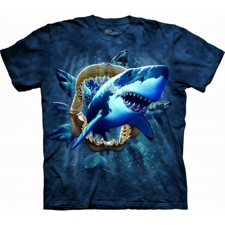 Youth Shark Attack T-Shirt (Attack Youth T-shirt)