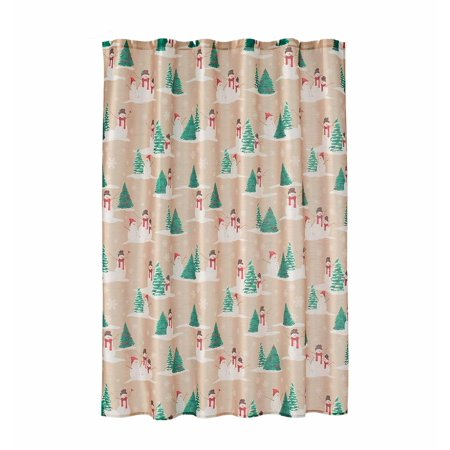 Christmas Fabric Shower Curtain 70\