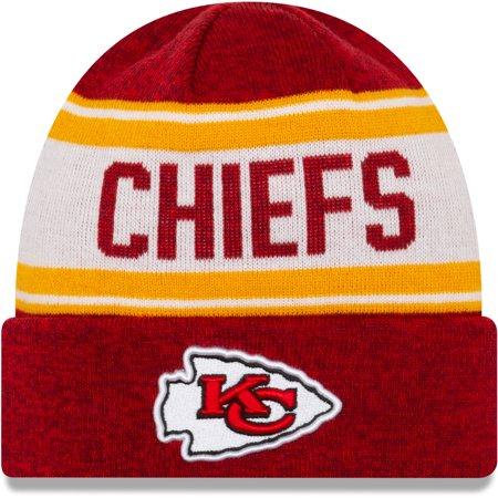 Kansas City Chiefs New Era Knit Stated Cuffed Knit Hat - Red - OSFA