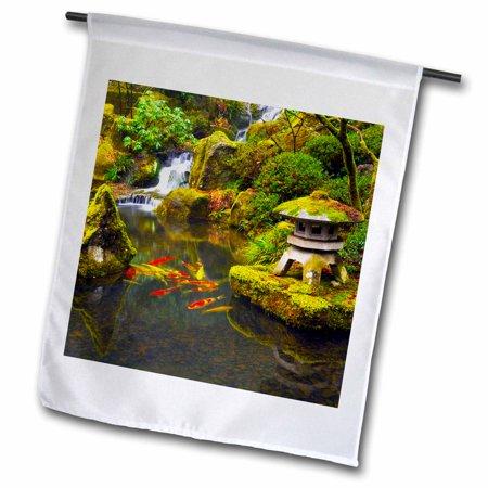 3dRose Portland Japanese Garden, Portland, Oregon, USA - Garden Flag, 18 by 27-inch ()