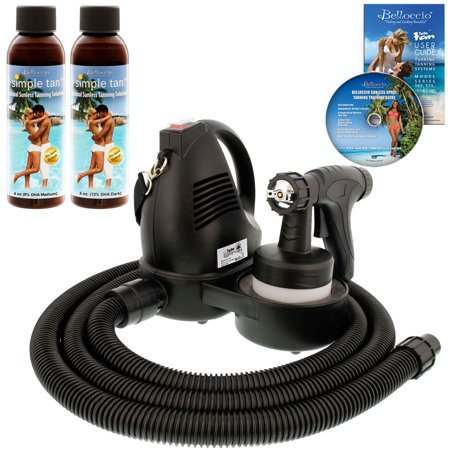 Premuim Simple Tan Sunless Airbrush HVLP SPRAY TANNING SYSTEM 8, 12 DHA Solution