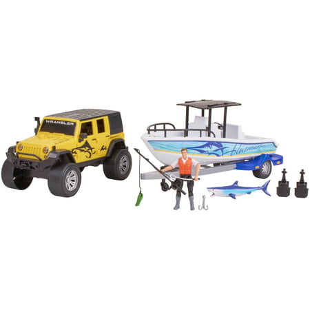 Adventure Force Outdoor Adventure Deluxe Vehicle Play Set, Yellow Jeep
