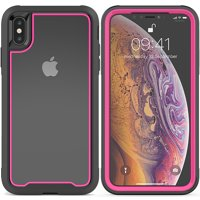 """iPhone XS Max Case, Allytech Slim Clear Shock-Absorbing Dustproof Lightweight Cover, Without Built-in-Screen Protector, 2 in 1 Shockproof Case for for iPhone XS Max 2018 (6.5""""), Gray"""