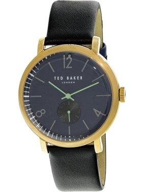 Ted Baker Men's Oliver Gold Leather Quartz Fashion Watch 10031515