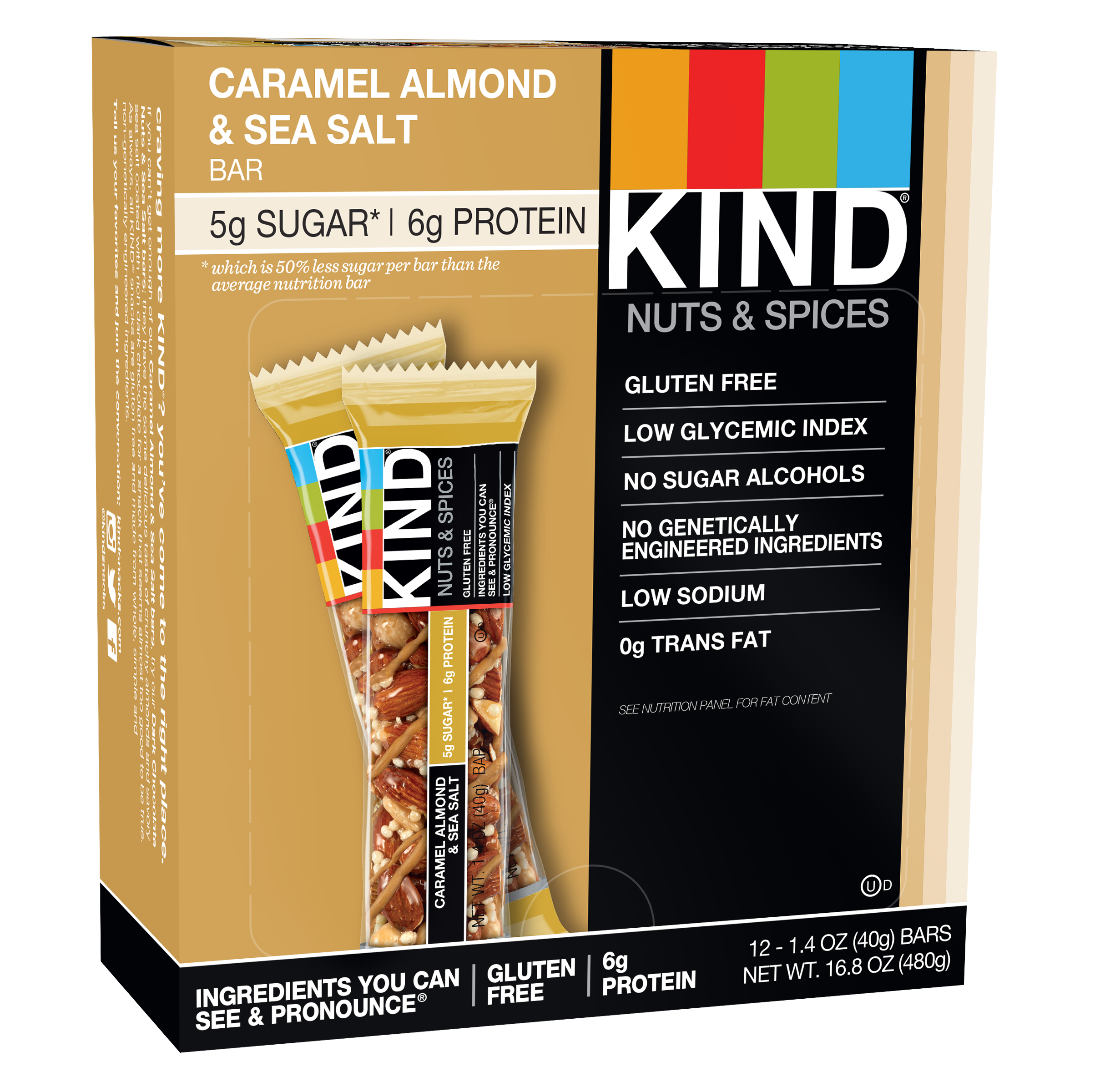 KIND Bars, Caramel Almond & Sea Salt, 12 Bars, Gluten Free