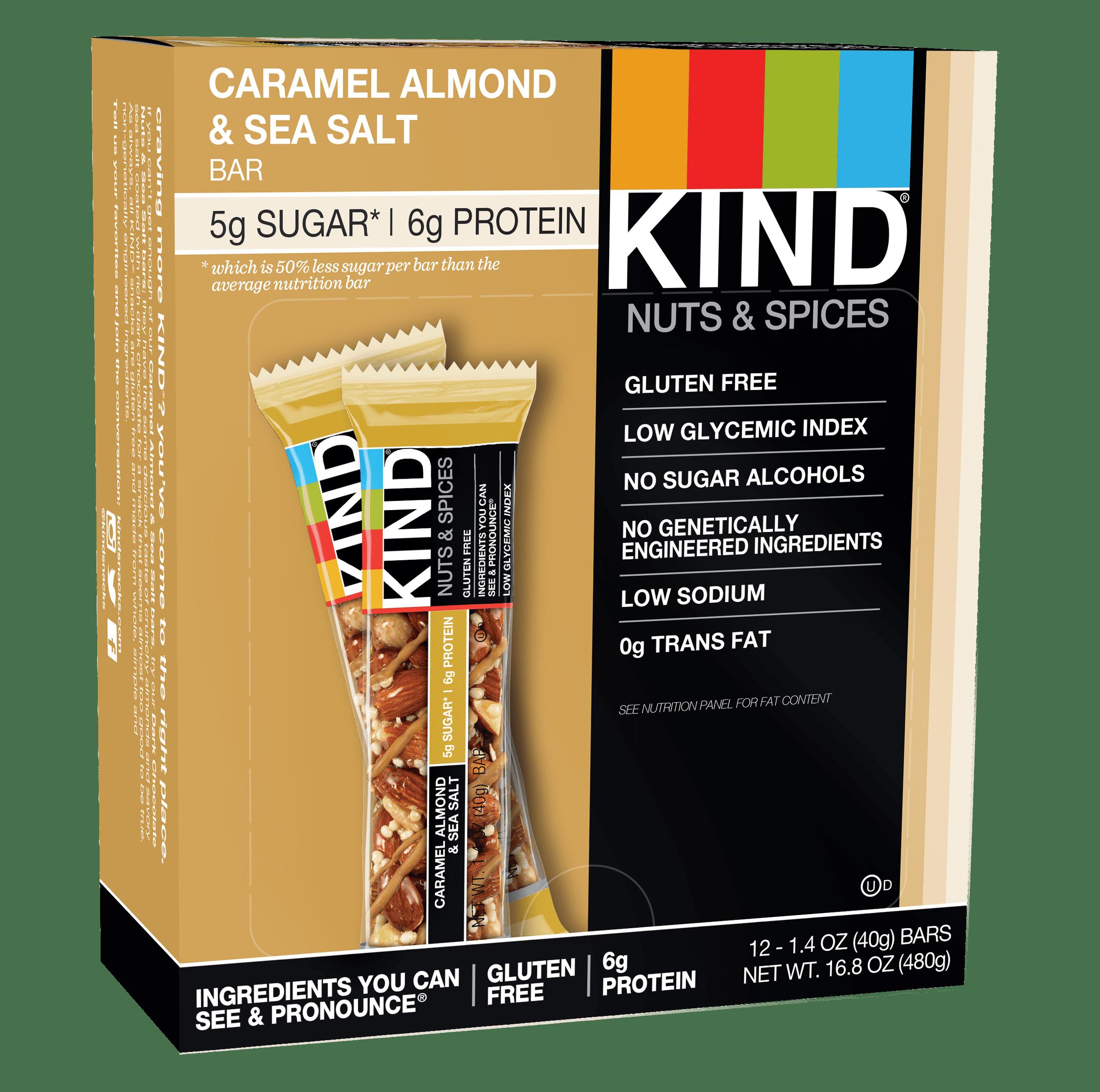KIND Bars, Caramel Almond & Sea Salt, 12 Bars, Gluten Free