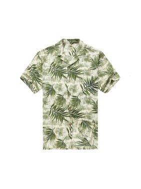 0e34ac27 Product Image Men's Hawaiian Shirt Aloha Shirt XL Breadfruit Leaves in  White Green
