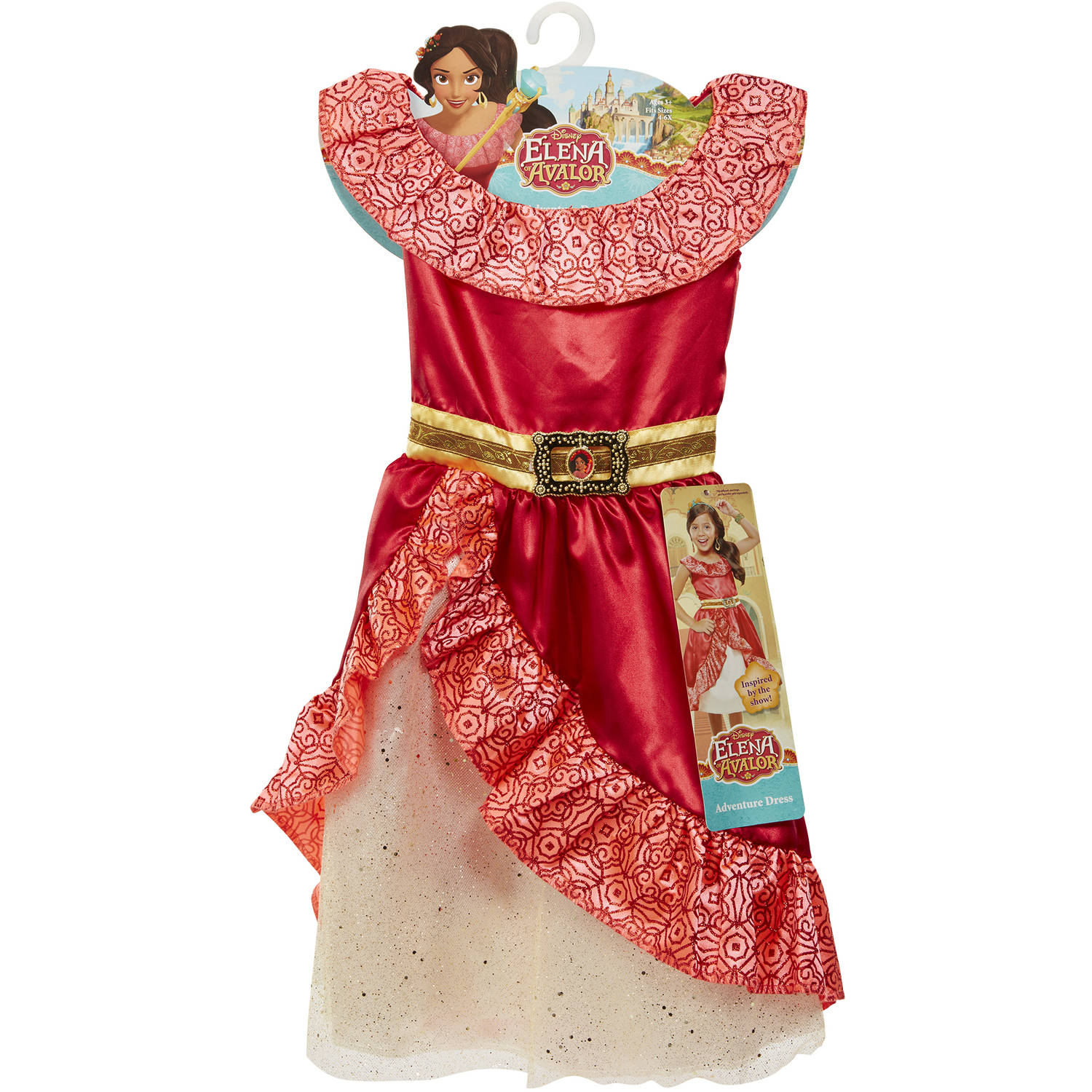 Disney Princess Elena of Avalor Adventure Dress Walmart