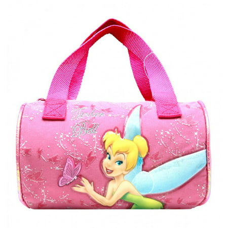Disney Tinkerbell Girls Kids Pink Roll Hand Bag for Books and School](Tinkerbell Handbag)