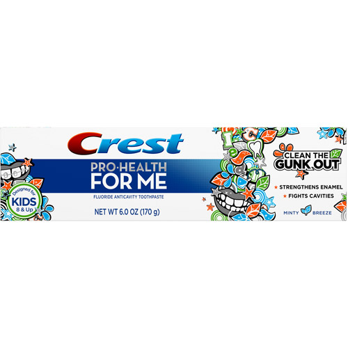 Crest Pro-Health For Me Anticavity Fluoride Minty Breeze Flavor Toothpaste, 6 oz