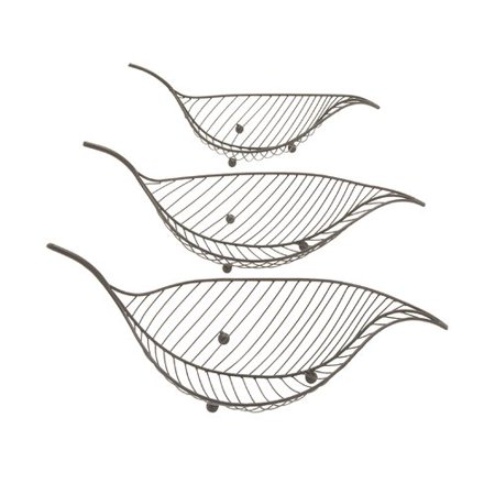 Three Light Decorative Bowl (Cole & Grey Leaf 3 Piece Decorative Bowl)