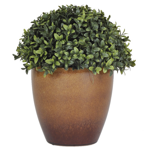 House of Silk Flowers Inc. Half Ball Topiary with Brown Ceramic Planter