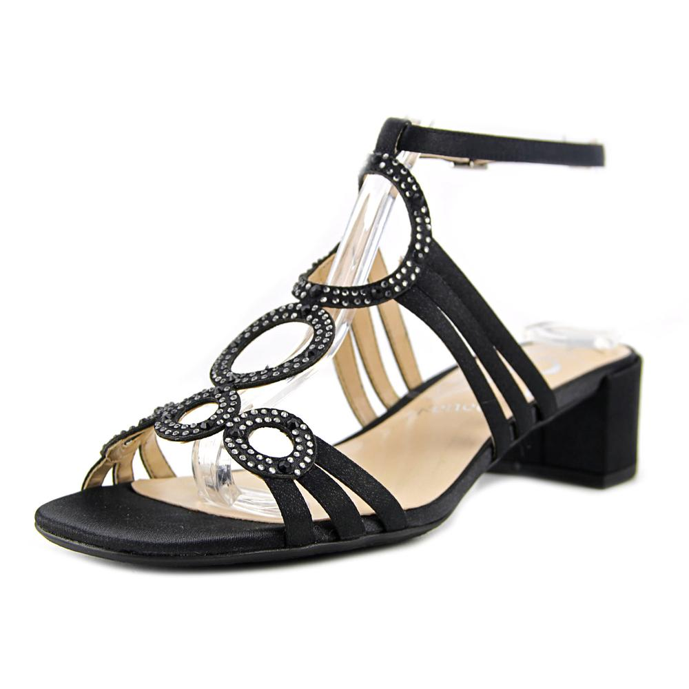 J. Renee Terri Women W Open Toe Canvas Gray Sandals by J. Renee