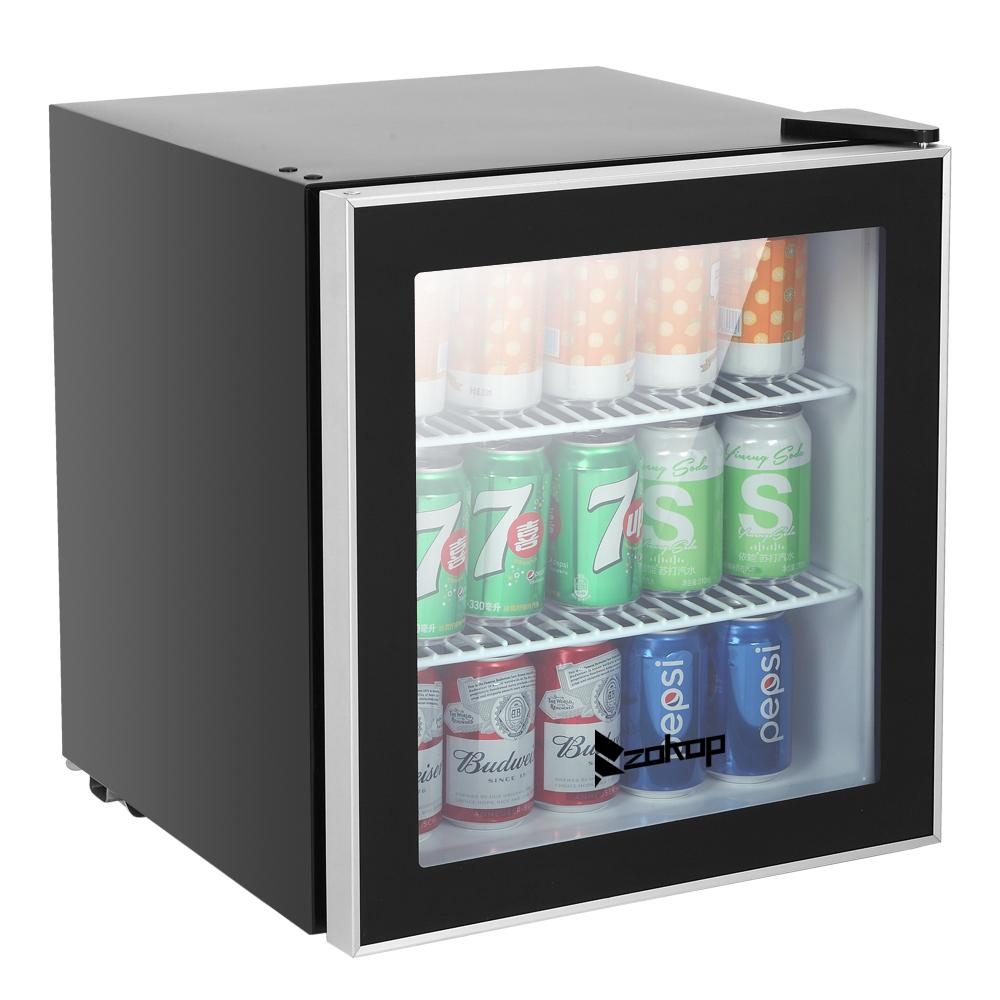 Freestanding Ultra Cool Mini Drink Fridge Juice Cooler for Home /& Office Soda Stainless Steel Cocktails 101 Can Beverage Refrigerator Reversible Glass Door /& Adjustable Shelving Beer