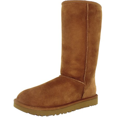 Ugg Women's Classic Tall II Leather Chestnut Mid-Calf Suede Boot - 9M ()