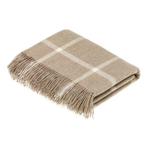 Gracie Oaks Buch Merino Windowpane Wool Throw