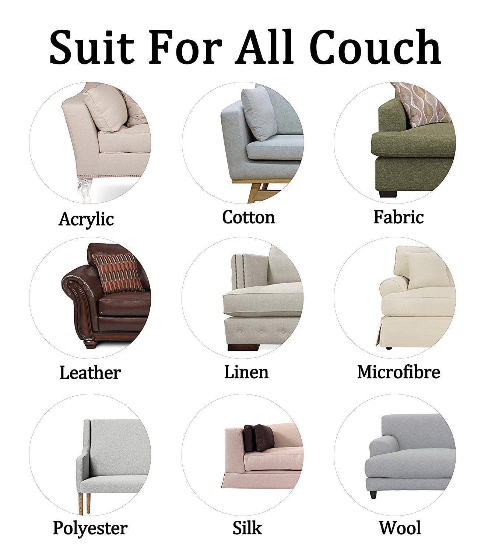 4pcs Cat Scratch Furniture Clear