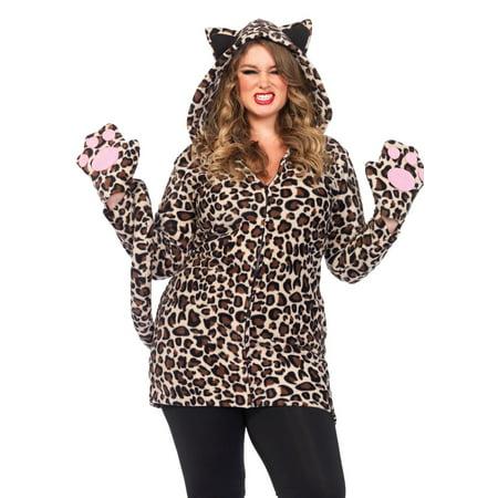 Cozy Leopard dress w/paw glove - image 1 de 1