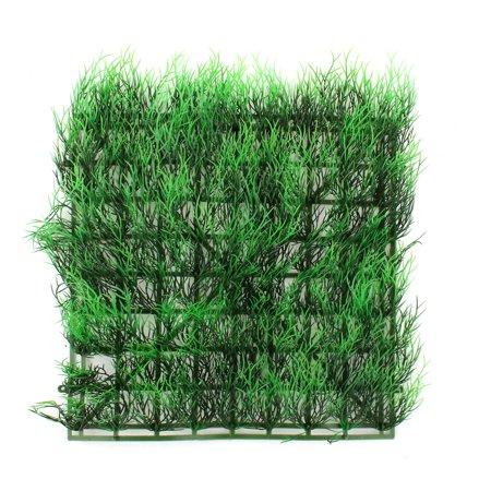 """11"""" x 11""""  Aquarium Fish Tank Sqaure Shape Water Plastic Lawn Grass Green - image 2 of 2"""