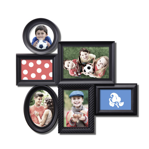 Adeco Trading 6 Opening Decorative Wall Hanging Collage Picture Frame