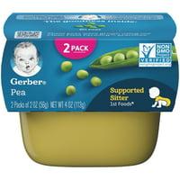 (Pack of 8) Gerber 1st Foods Baby Food, Pea, 2-2 oz Tubs