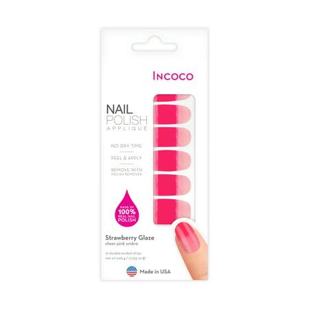 Incoco Nail Polish Applique, Strawberry Glaze