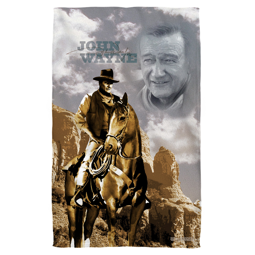 John Wayne Ride Em Cowboy Bath Towel White 27X52