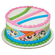 Power Puff Powerpuff Girls Designer Strips Edible Cake Border Design Toppers, Easy to Use; Instructions on How to Apply Topper Included By Kopykake