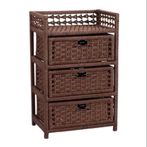 Paper Rope 3 Drawer Chest
