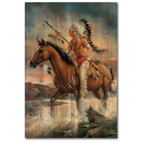 WGI-GALLERY Legends of the West by Russ Docken Painting Print Plaque