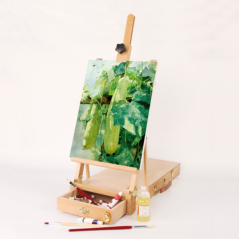 Ktaxon Portable Artist Wooden Painting Drawing Tabletop Easel Holder,  Adjustable Display Stand With Sketch Box