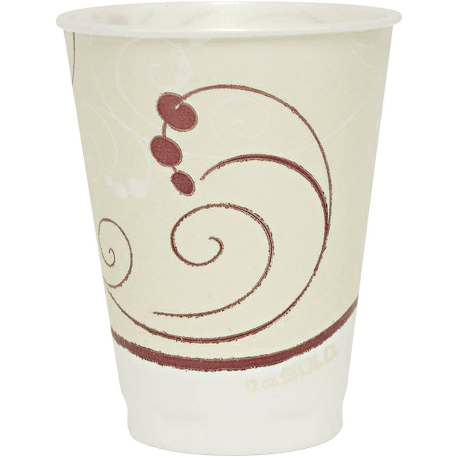 Solo Cup Company Symphony Design 12 oz. Trophy Foam Hot/Cold Drink Cups, 300 count