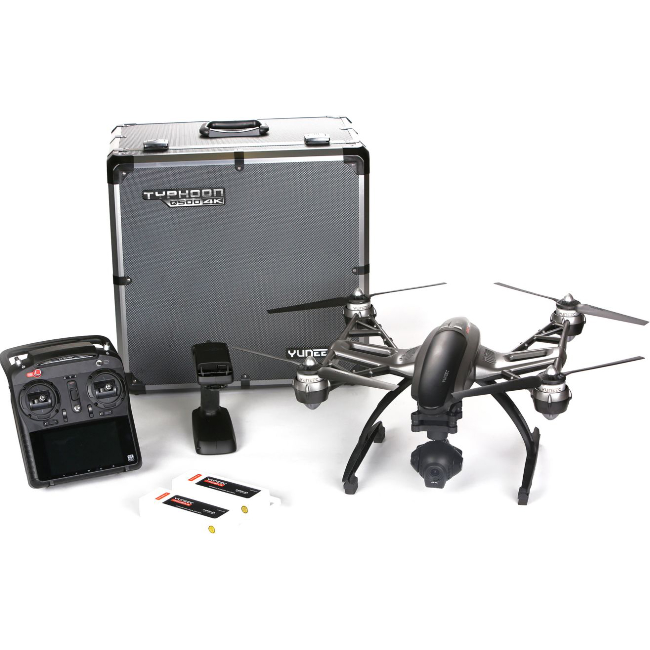 Yuneec Typhoon Q500 4K Quadcopter Drone UHD Includes Aluminum Case and Second Battery by Yuneec