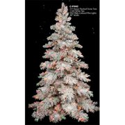 Autograph Foliages C-91042 7.5 ft. Heavy Flocked Snow Tree