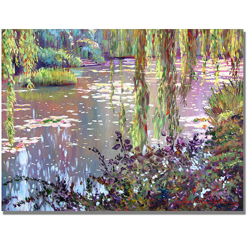 "Trademark Art ""Homage to Monet"" Canvas Wall Art by David Lloyd Glover"