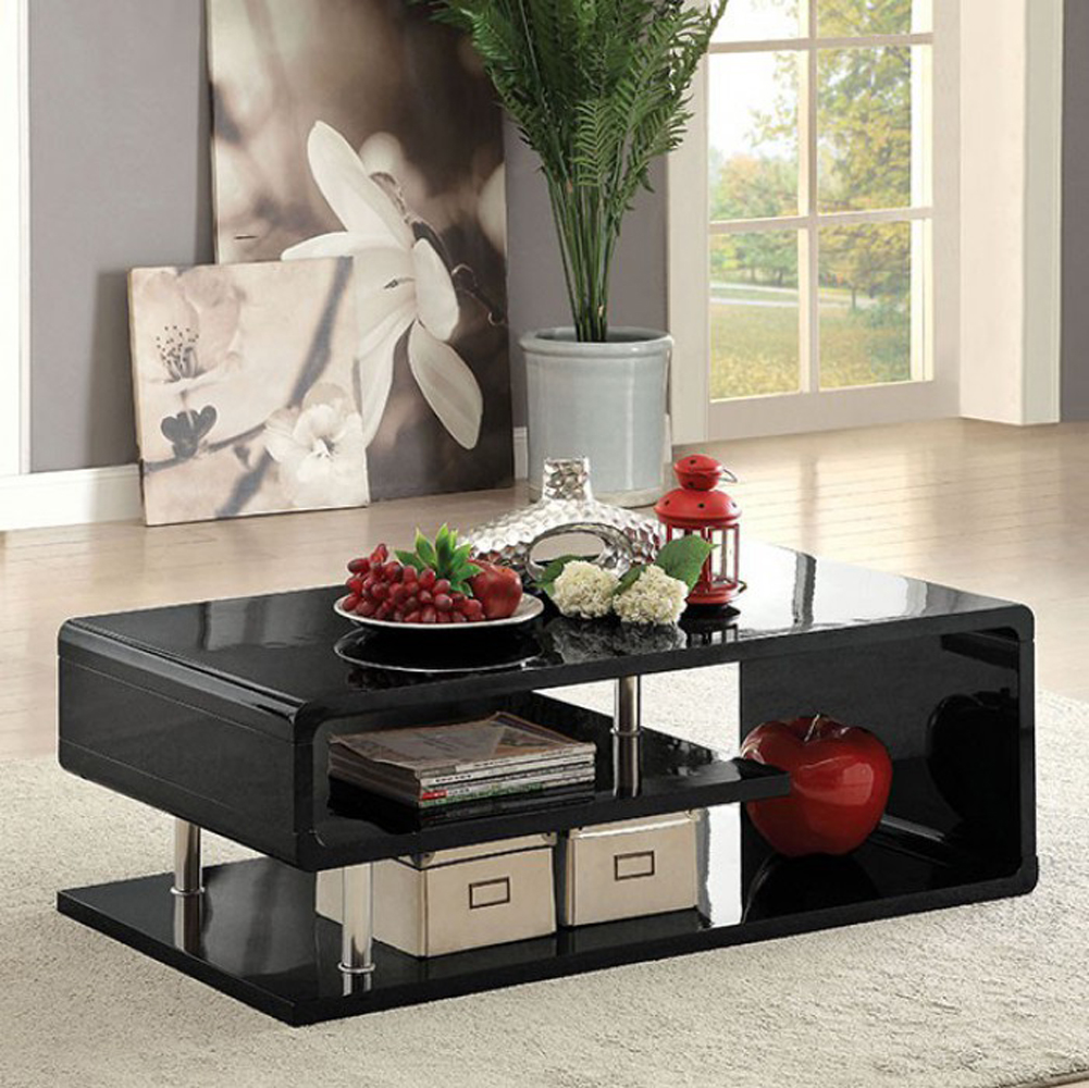Ninove Contemporary Style Coffee Table, Black